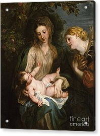 Virgin And Child With Saint Catherine Of Alexandria Acrylic Print
