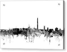 Washington Dc Skyline Acrylic Print by Michael Tompsett