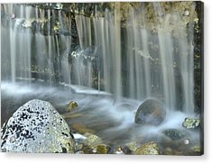 Waterfall Detail Acrylic Print by Stephen  Vecchiotti