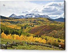 Wilson Mesa Ranch Loop Road Acrylic Print