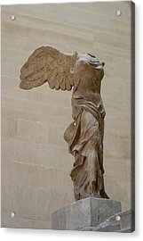 Winged Victory At Louvre Acrylic Print by Carl Purcell
