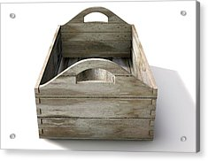 Wooden Carry Crate Acrylic Print by Allan Swart