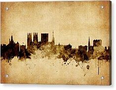 York England Skyline Acrylic Print