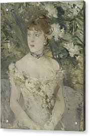 Young Girl In A Ball Gown Acrylic Print by Berthe Morisot