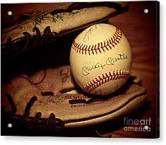 50 Home Run Baseball Acrylic Print by Mark Miller