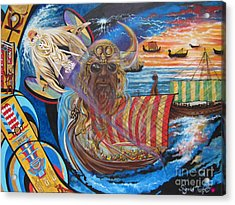 Blue Cat Productions 500 Empires Never Die - Odin Acrylic Print