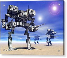 501st Mech Trinary Acrylic Print by Curtiss Shaffer