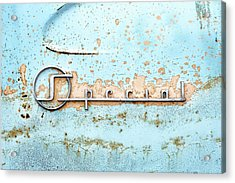 50s Buick Special Nameplate Acrylic Print by Jim Hughes