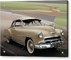51 Chevrolet Deluxe Acrylic Print by Bill Dutting