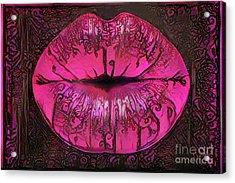 Kissing Lips Acrylic Print by Amy Cicconi