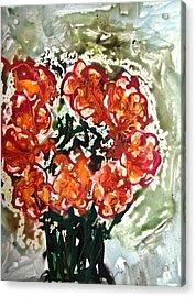 Divine Flowers Acrylic Print by Baljit Chadha