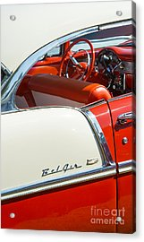 55 Chevrolet Sport Coupe Acrylic Print by Tim Gainey