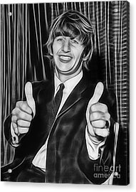 Ringo Starr Collection Acrylic Print by Marvin Blaine