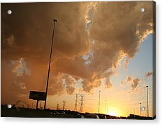 55 Sunset Acrylic Print by Gregory Jeffries