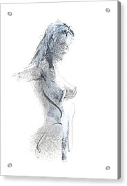 Acrylic Print featuring the drawing Rcnpaintings.com by Chris N Rohrbach