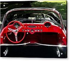 56 Corvette Convertible Acrylic Print