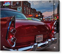 '56 Dodge On Beale  Acrylic Print by Lance Vaughn