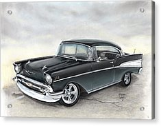 57 Chev Acrylic Print by Heather Gessell