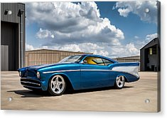 Acrylic Print featuring the digital art '57 Chevy Custom by Douglas Pittman