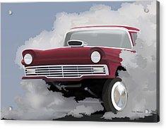 57 Ford Gasser Acrylic Print by Colin Tresadern