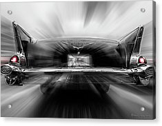 57' Taillights Acrylic Print by Marvin Spates