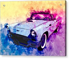 57 Thunderbird Watercolour Acrylic Print