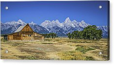 #5730 - Mormon Row, Wyoming Acrylic Print