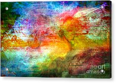 5a Abstract Expressionism Digital Painting Acrylic Print