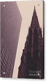 5th Avenue Nyc Old And New Acrylic Print