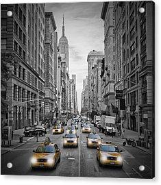 5th Avenue Nyc Traffic Acrylic Print by Melanie Viola