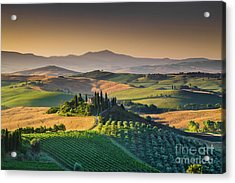 A Morning In Tuscany Acrylic Print