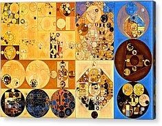 Abstract Painting - Brown Pod Acrylic Print by Vitaliy Gladkiy