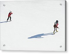 Aerial View Of Ice Skating Acrylic Print