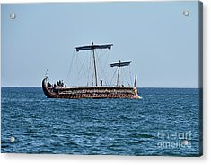 An Ancient Trireme Underway Acrylic Print