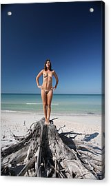 Acrylic Print featuring the photograph Beach Girl by Lucky Cole
