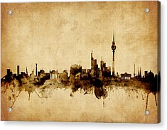 Berlin Germany Skyline Acrylic Print by Michael Tompsett