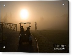 California Golf Course Sunrise Morning Golfers Acrylic Print by ELITE IMAGE photography By Chad McDermott