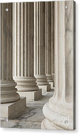 Columns Of The Supreme Court Acrylic Print by Roberto Westbrook