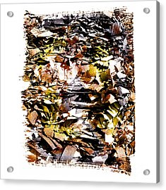 Compressed Pile Of Paper Products Acrylic Print by Bernard Jaubert