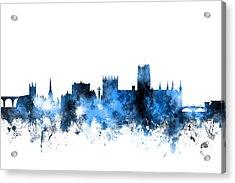 Durham England Skyline Cityscape Acrylic Print