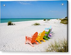 Florida Sanibel Island Summer Vacation Beach Acrylic Print by ELITE IMAGE photography By Chad McDermott