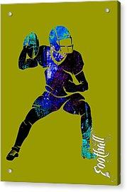 Football Collection Acrylic Print by Marvin Blaine