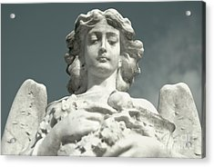 Acrylic Print featuring the photograph Grieving Angel by Yurix Sardinelly