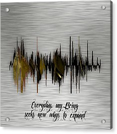 Inspirational Soundwave Message Acrylic Print