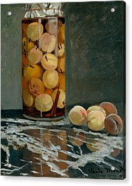 Jar Of Peaches Acrylic Print