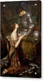 Lamia Acrylic Print by John William Waterhouse