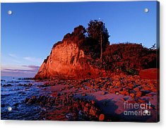 Malibu Sunrise Acrylic Print by Marc Bittan