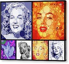 Marilyn Monroe Vintage Hollywood Actress Acrylic Print