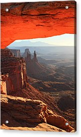 Mesa Arch Sunrise In Canyonlands National Park Acrylic Print by Pierre Leclerc Photography