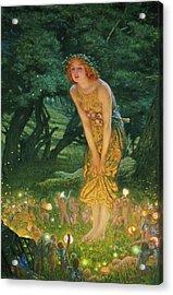 Midsummer Eve Acrylic Print by Edward Robert Hughes